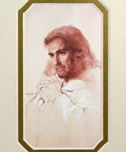 A Prayerful Christ 3x5 Mat Frame #35MAT-PC-0
