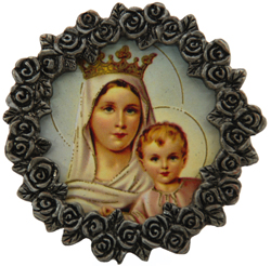 Mount Carmel Mini Pewter Frame #MPF-MTC-0