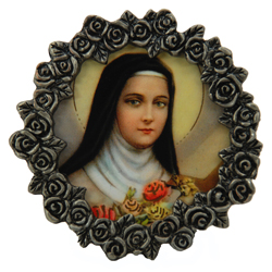 St. Therese Mini Pewter Frame #MPF-STT2-0
