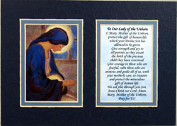Our Lady of the Unborn 5x7 Mat 57MAt-OLM-0