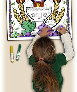 Catholic Coloring Poster Cross of Redemption-0
